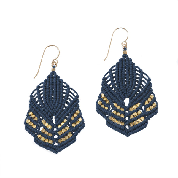 Hera Earrings - Denim