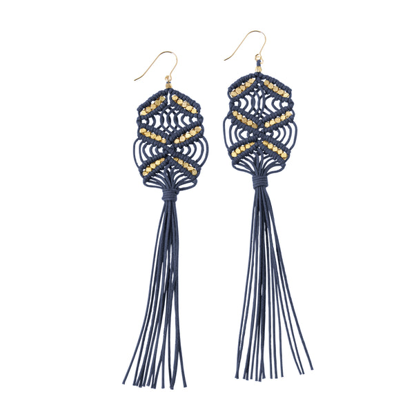 Rhiannon Tassel Earrings • Denim