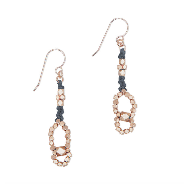 Eos Knotted Nugget Earrings • Rose Gold