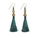 Bhaskari Silk Tassel Earrings • Forest