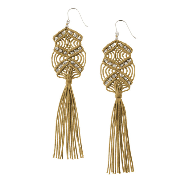 Gaia Tassel Earrings • Ochre