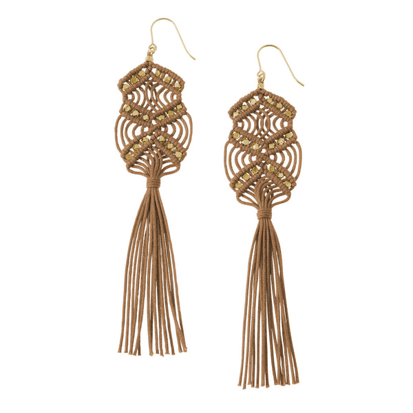 Gaia Tassel Earrings • Sienna