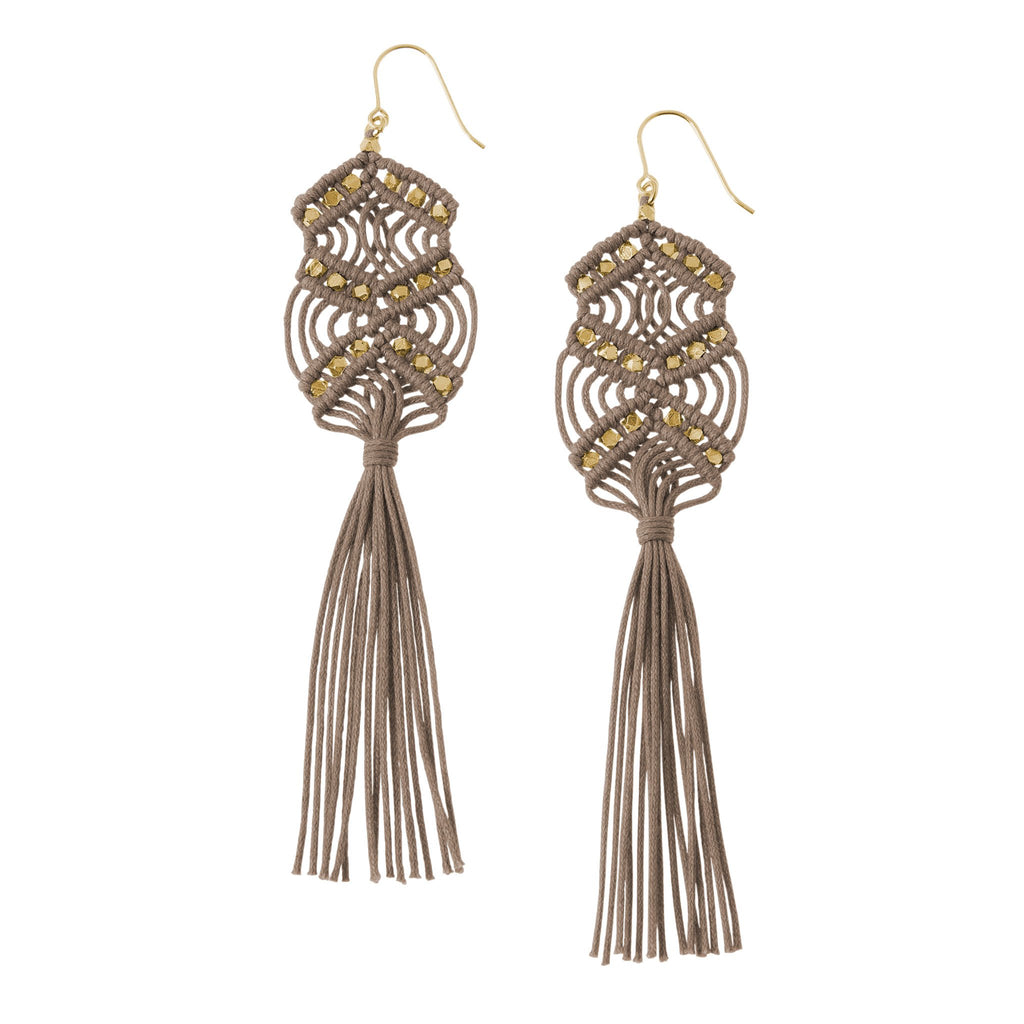 Gaia Tassel Earrings • Stone