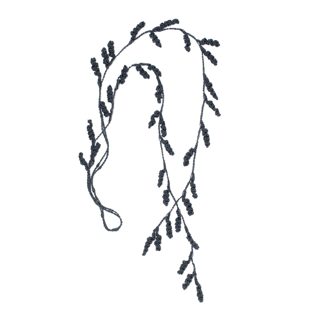 Tendril Lariat Necklace - Graphite