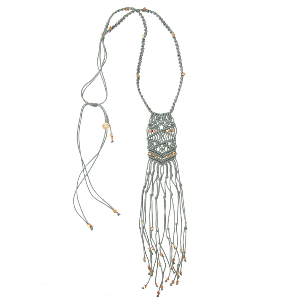 Kalliope Necklace • Light Grey