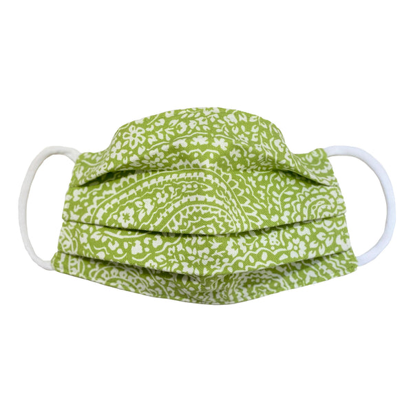 Comfortable Face Mask - Green Paisley Floral