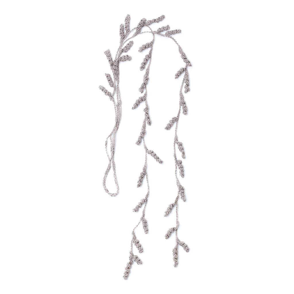 Tendril Lariat Necklace - Greige