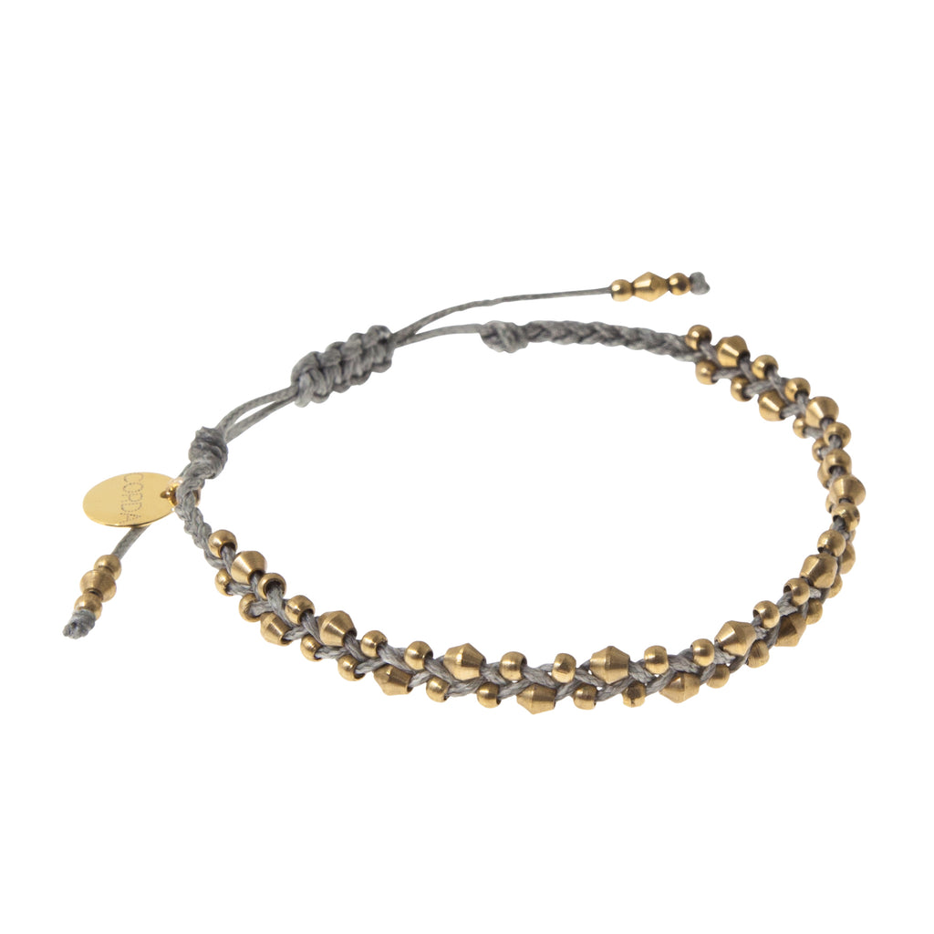 Stellina Luxe Friendship Bracelet • Grey