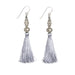 Bhaskari Silk Tassel Earrings • Grey