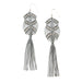 Gaia Tassel Earrings • Grey