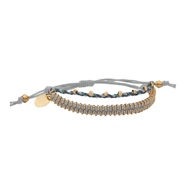 Juno Luxe Friendship Bracelet • Grey • Brass