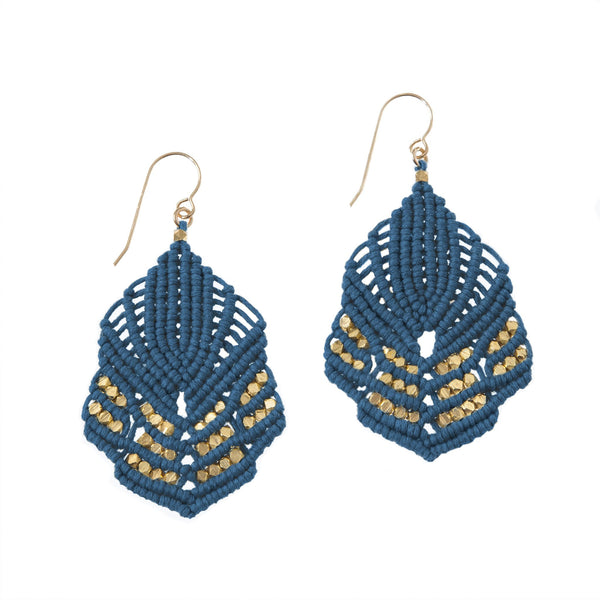 Hera Earrings - Indigo
