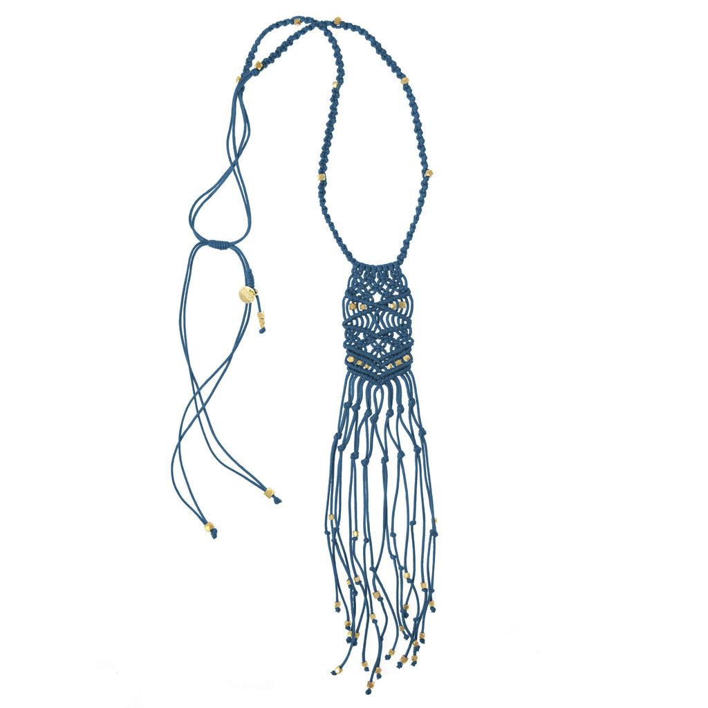 Kalliope Necklace • Indigo