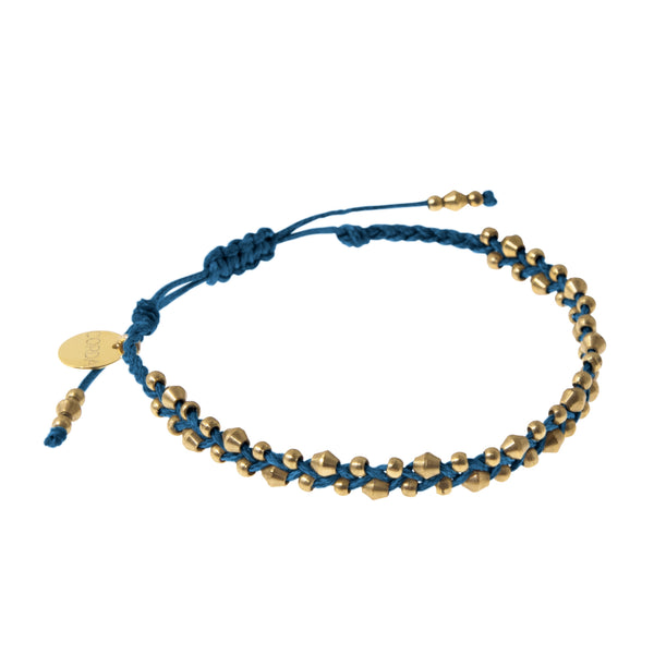 Stellina Single Braided Bracelet • Indigo