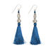 Bhaskari Silk Tassel Earrings • Indigo