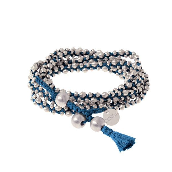 Stellina 3-in-one Wrap Bracelet/Necklace • Indigo