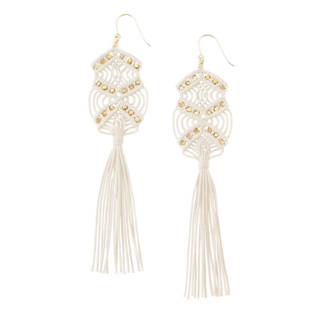 Gaia Tassel Earrings • Ivory