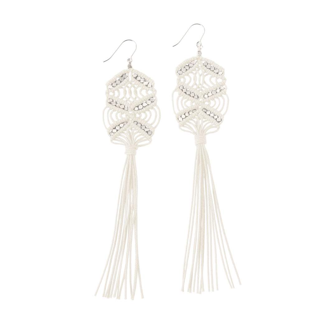 Rhiannon Tassel Earrings • Ivory