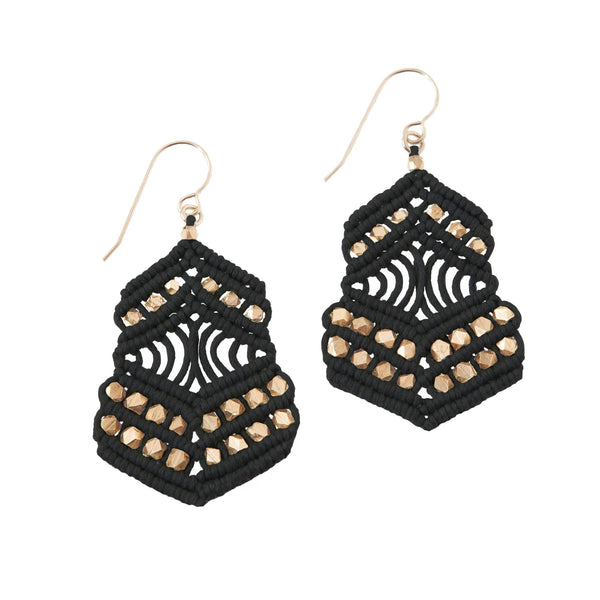 Kalliope Earrings - Black