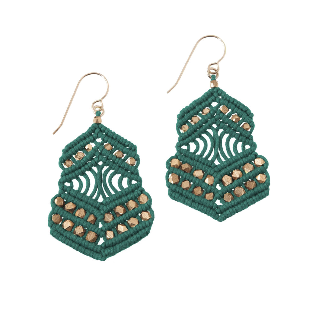 Kalliope Earrings - Emerald