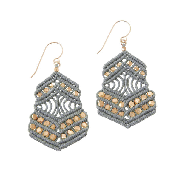 Kalliope Earrings - Grey