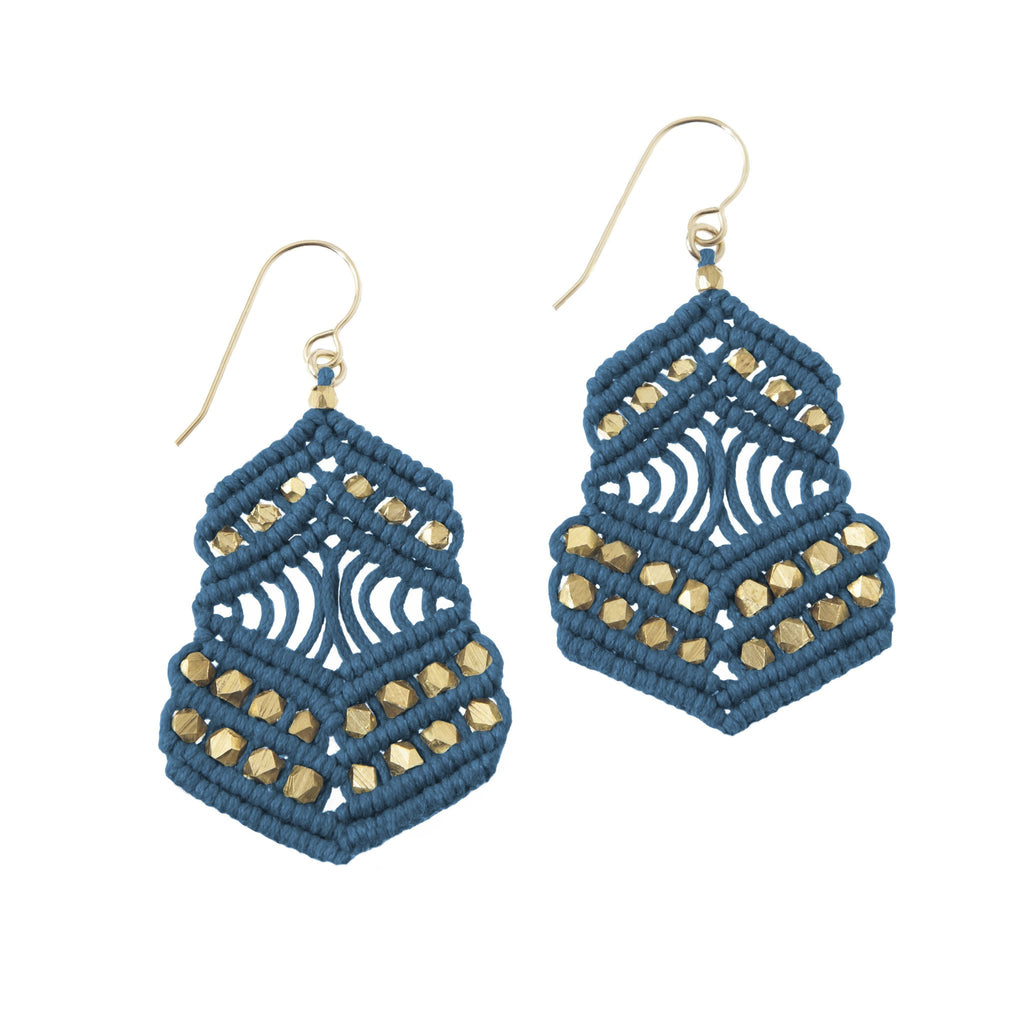 Kalliope Earrings - Indigo