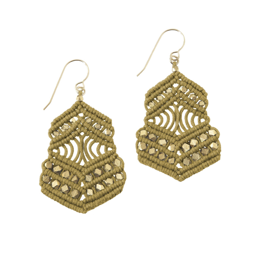 Kalliope Earrings - Ochre