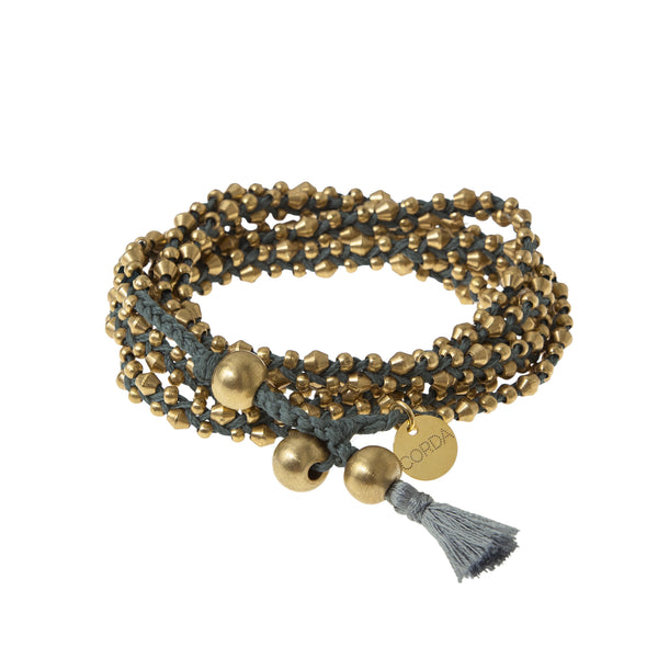 Stellina 3-in-one Wrap Bracelet/Necklace • Lichen