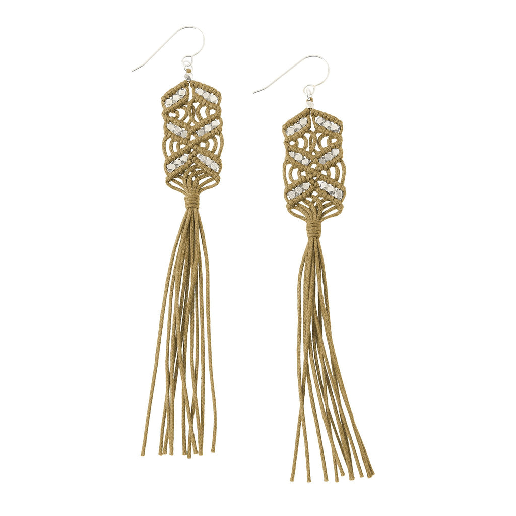 Maeve Tassel Earrings • Ochre