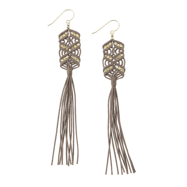 Maeve Tassel Earrings • Stone
