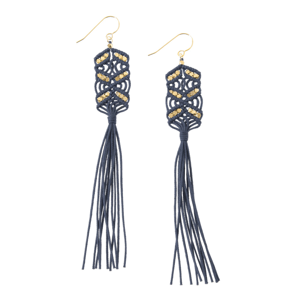 Maeve Tassel Earrings • Denim