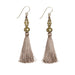 Bhaskari Silk Tassel Earrings • Mink