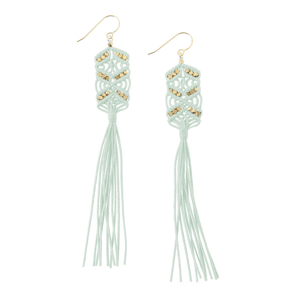 Maeve Tassel Earrings • Mint