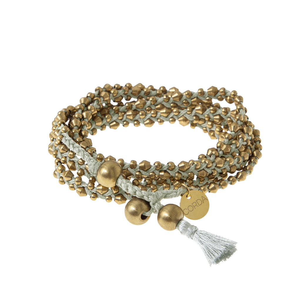 Stellina 3-in-one Wrap Bracelet/Necklace • Moss