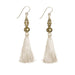 Bhaskari Silk Tassel Earrings • Natural