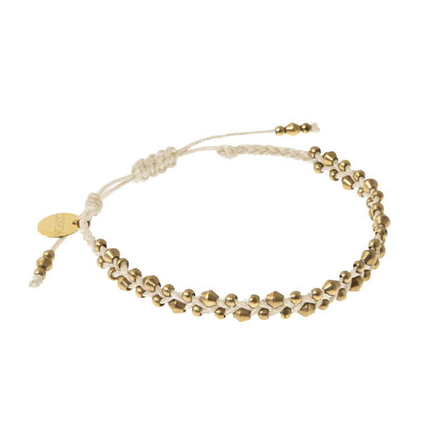 Stellina Single Braided Bracelet • Natural