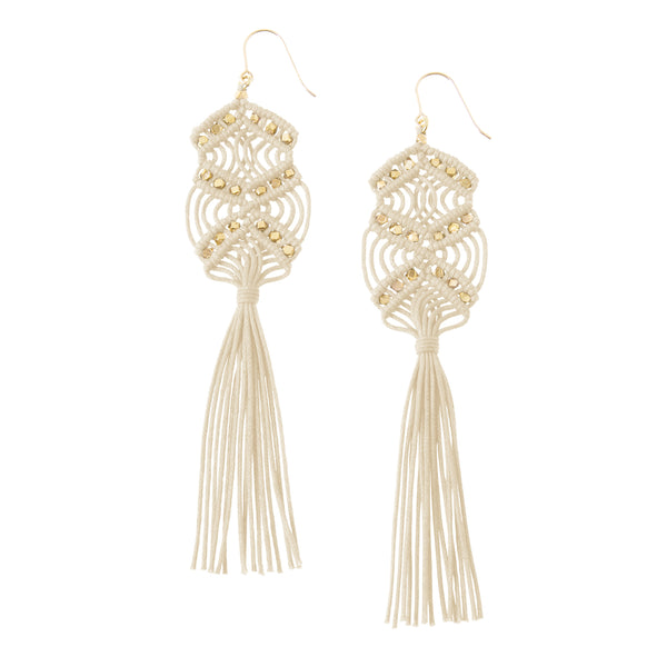 Gaia Tassel Earrings • Natural