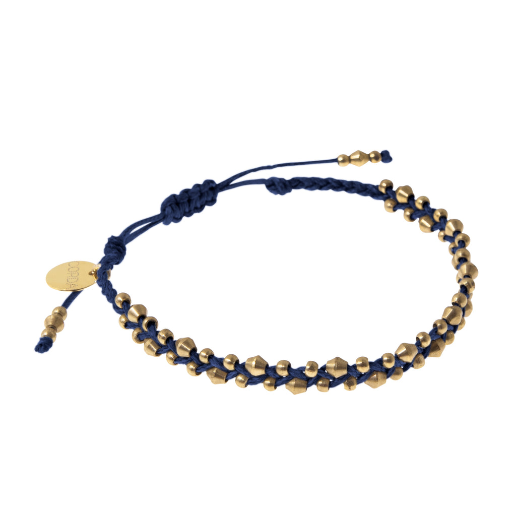 Stellina Luxe Friendship Bracelet • Navy