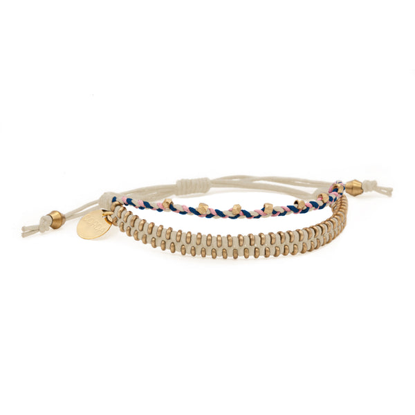 Juno Luxe Friendship Bracelet • Natural • Brass