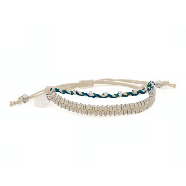 Juno Luxe Friendship Bracelet • Natural • Silver