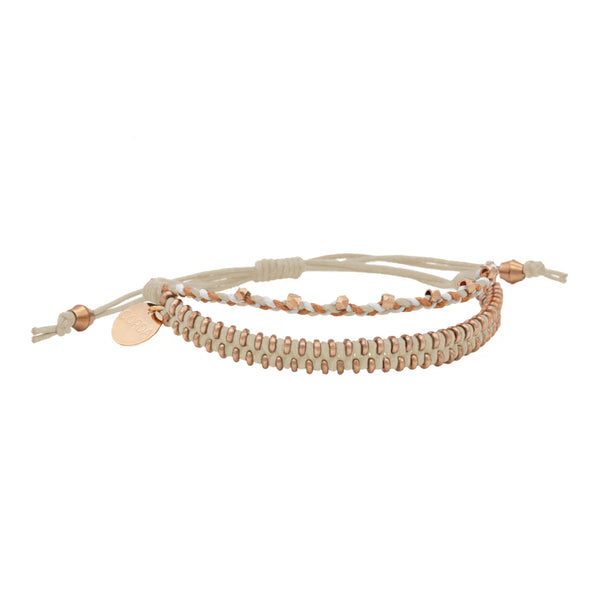 Juno Luxe Friendship Bracelet • Natural • Rose Gold