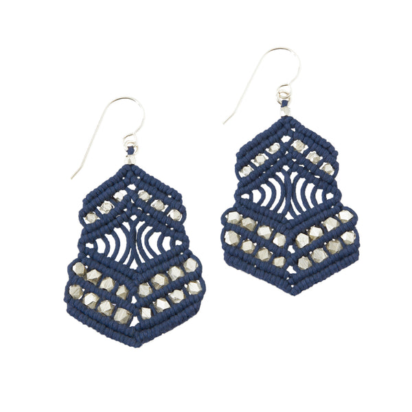 Kalliope Earrings - Navy