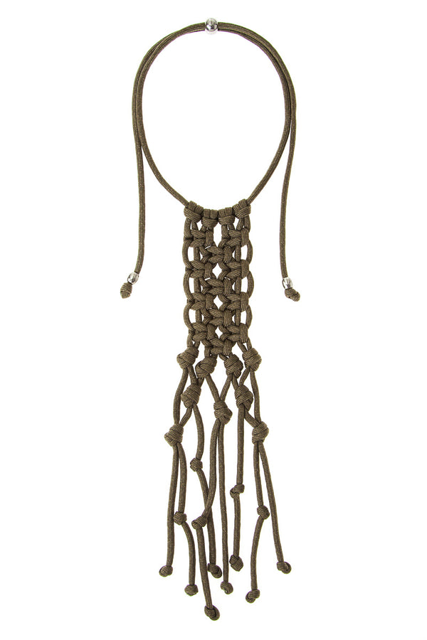 ParaCorda Karma Necklace • Khaki