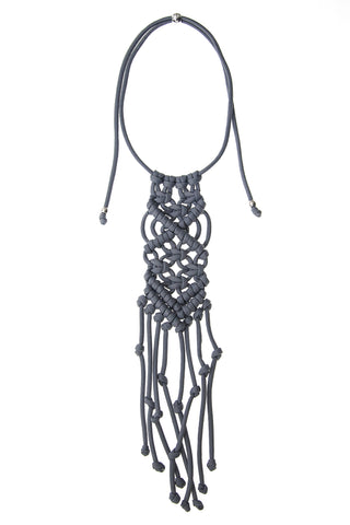 Paracorda Rock Star Macramé Necklace - Gray