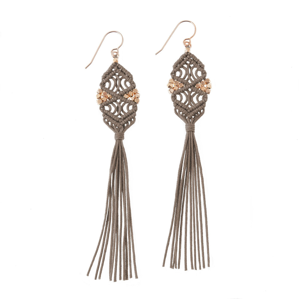 Rhia Tassel Earrings • Stone
