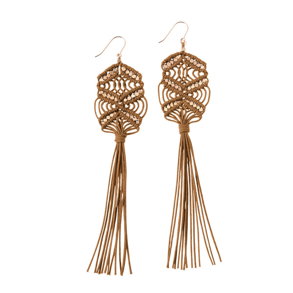 Rhiannon Tassel Earrings • Sienna