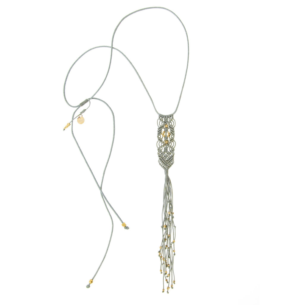Shakti Necklace • Light Grey