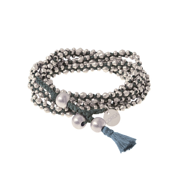 Stellina 3-in-one Wrap Bracelet/Necklace • Slate
