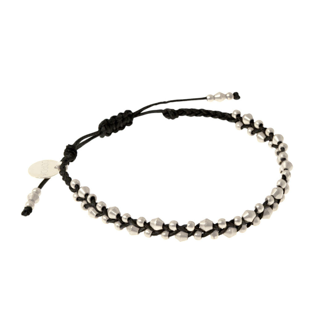 Stellina Luxe Friendship Bracelet • Black
