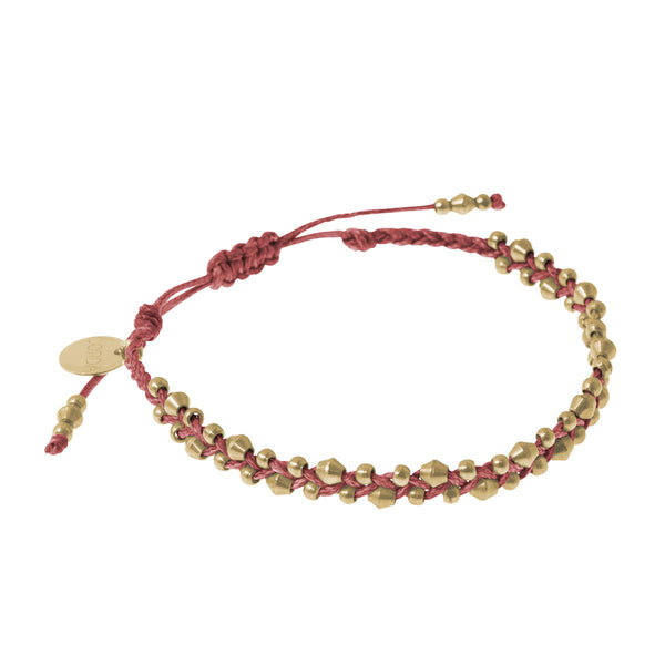 Stellina Luxe Friendship Bracelet • Pomegranate